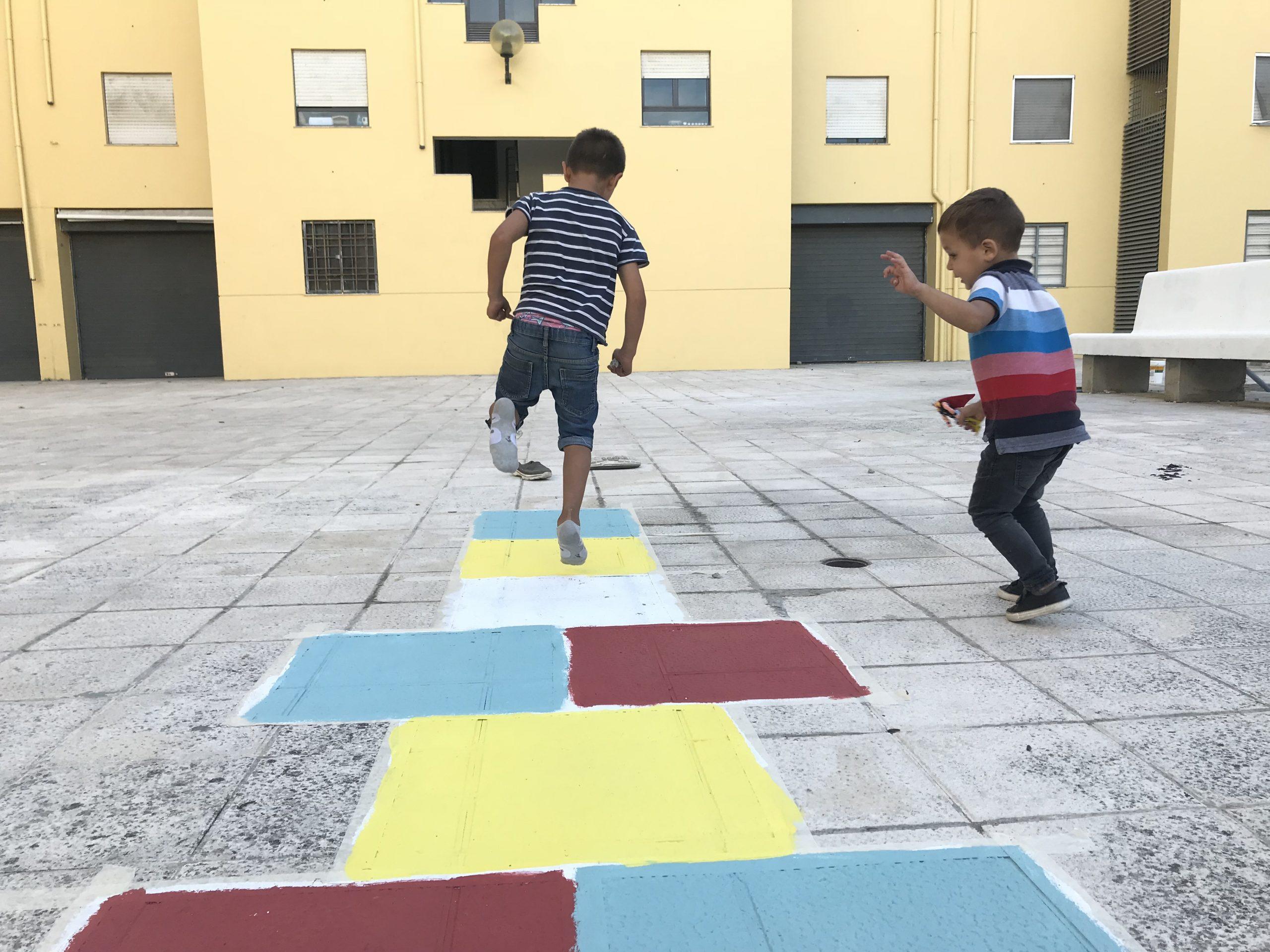 Jogos no Chão e Arte Urbana